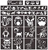 Animal Stencils, 12 Pcs Crafts Reusable Mylar Template for Journaling, DIY Home Decor Rock Art Projects Painting