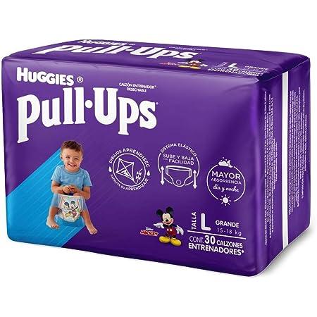 Huggies Pull-Ups Calzoncitos Entrenadores, Talla Grande Niño, Paquete con 30 Piezass, Ideal para niños de entre 15 a 18 kg