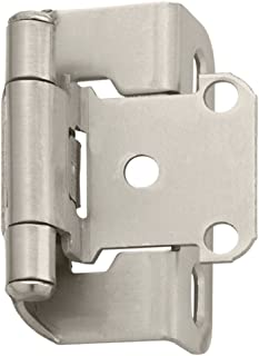 Amerock 69197-XCP10 Spring Loaded Offset Hinge 10mm 3//8 in Pack of 10 Pairs