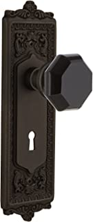 Nostalgic Warehouse 725527 Egg & Dart Plate with Keyhole Privacy Waldorf Black Door Knob, Oil-Rubbed Bronze, Privacy - 2.375