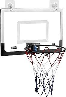 Basketball Portable Boards Door Mounted Large Basketball Backboard, Free Standing Kids/Adults Games Hoop Net Rim for Baske...