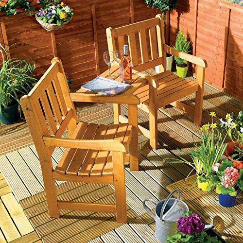 60d1e346d589 Companion Garden Bench - Corner Love Seat -Jack and Jill - Tete a Tete Set