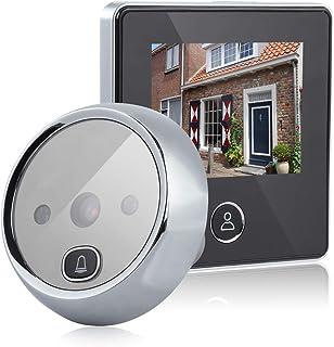 Visor de Puertas Peephole Video Timbre de la Puerta Visor de mirillas Digital Smart Vision Monitor con 3MP Gran Angular de 120 ° visión Nocturna por Infrarrojos para el Home Office Hotel