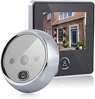 Door Viewer Peephole, Video Doorbell Digital Door Peephole Viewer Smart Vision Door Camera Monitor 3MP, 120° Wide Angle, IR Night Vision Home Office Hotel
