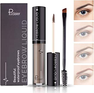 Waterproof Liquid Eyebrow Gels-24Hours Long Lasting Smudge-Proof Tinted Makeup Color Brow Gel-Light Grey