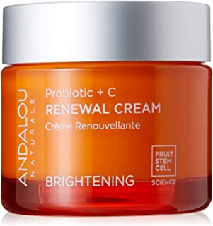 Andalou Naturals Brightening Probiotic + C Renewal Cream,1.7 Fl Oz