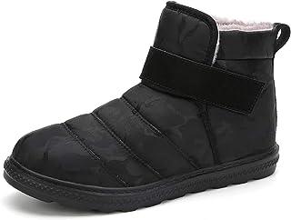 XSWL Bottes De Neige, Hiver Warmfur en Peluche Chaussures Imperméables Cheville Homme Extérieur Boot Casual