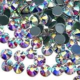 Jollin Hot Fix Diamantes de imitación de cristal con espalda plana Diamante redondo Gemas Strass, 4.8mm, SS20 1440pcs, Crystal AB