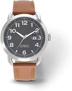 Zyros Watch for Men, Analog, Leather - ZAL040M110705