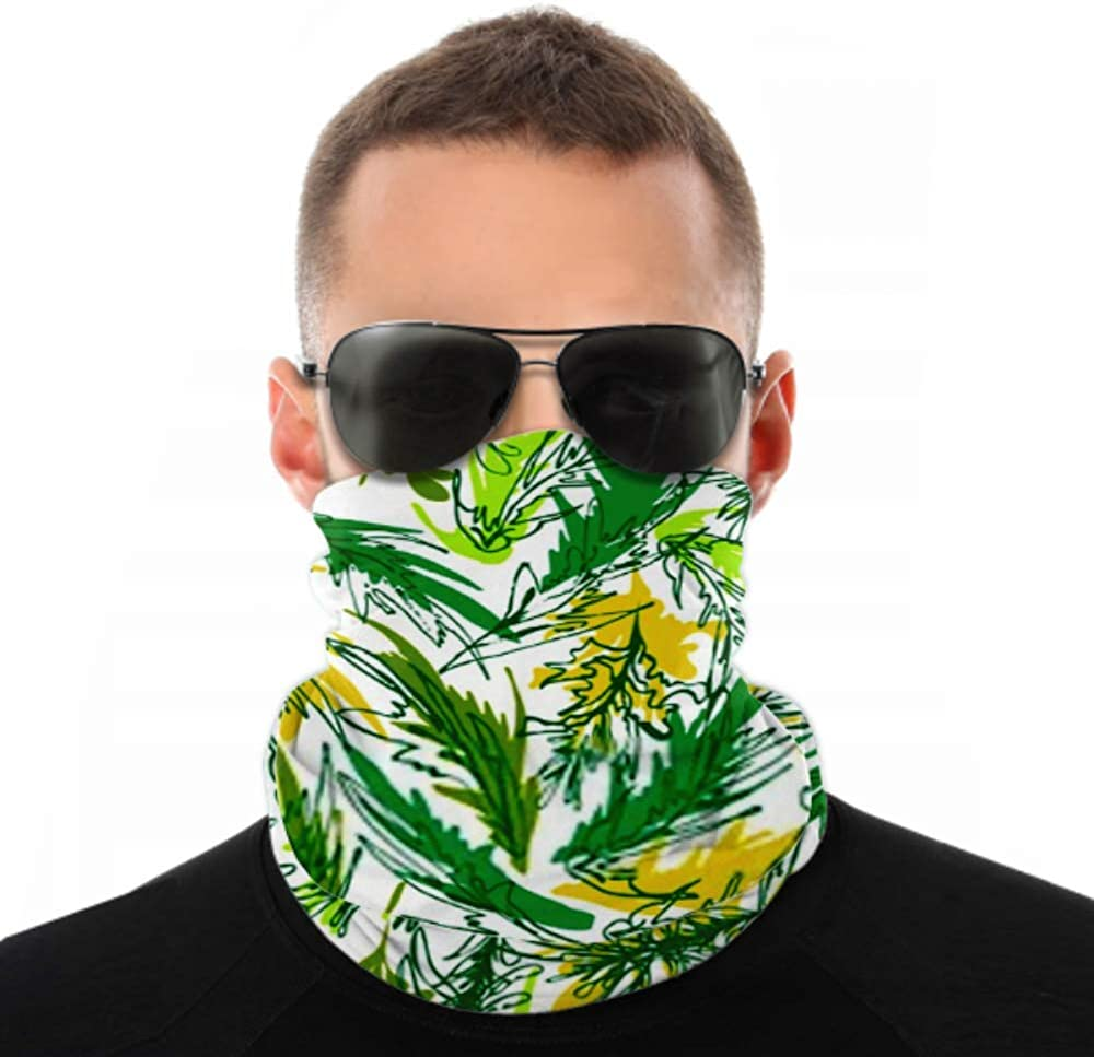 Headbands For Men Women Neck Gaiter, Face Mask, Headband, Scarf Abstract Colorful Seaweed Underwater Vegetation Vector Turban Multi Scarf Double Sided Print Hair Wrap For Sport Outdoor