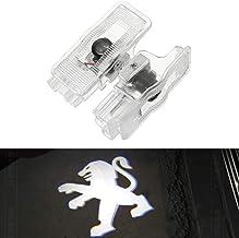 XIUJINGHONG 2 piezas Coche Logo Sombra Proyección Iluminación de Bienvenida