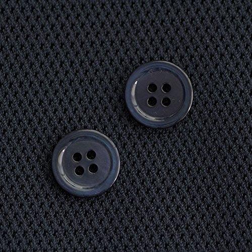 【丸型(染めボタン)】黒蝶貝 貝ボタン#00017 4穴15mm C/#NAVY 2個セット