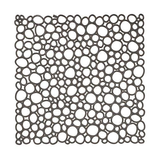 koziol Raumteiler Oxygen, Kunststoff, transparent anthrazit, 0.3 x 27 x 27 cm