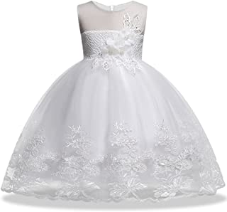 Sequin Lace Flower Baby Girl Dress Princess Pageant Elegant Tulle Gowns Pageant Knee Sleeveless Dresses