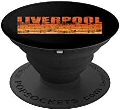 Liverpool Art Vintage Retro England Design - PopSockets Grip and Stand for Phones and Tablets