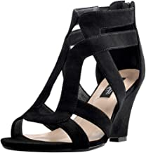 Onlymaker Women's Gladiator Cut Out Wedge Sandals Sexy Peep Toe Heeled Casual Party Dress Shoes