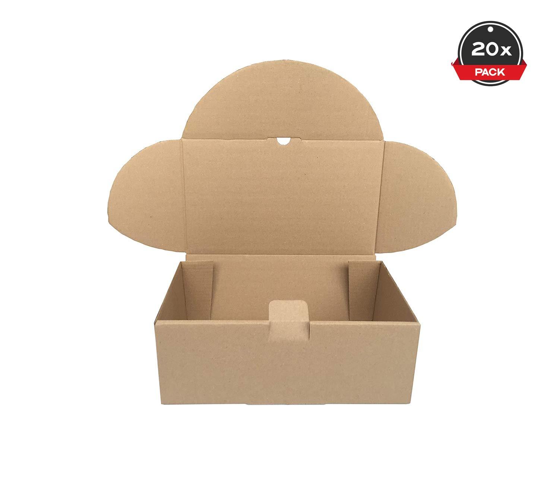 Cajeando   Pack de 20 Cajas de Cartón Automontables   Tamaño 35,5 x 22 x 13 cm   Para Envíos y Mudanzas   Color Marrón y Microcanal   Fabricadas en España: Amazon.es: Oficina y papelería