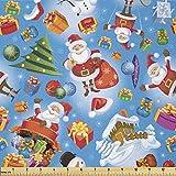 Lunarable Weihnachtsstoff von The Yard, Weihnachtsmann
