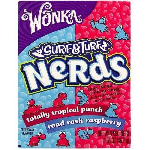 Wonka 5055900000000 Surf & Turf Tropical Punch & Raspberry Nerds 1.65 OZ (46.7g)