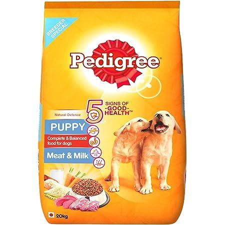 Pedigree Puppy Dry Dog Food, Meat & Milk, 20kg Pack