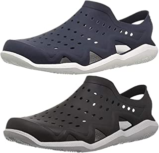 Ethics Stylish Combo Pack of 2 (Black/Navy Blue) Rubber Clogs for Men's