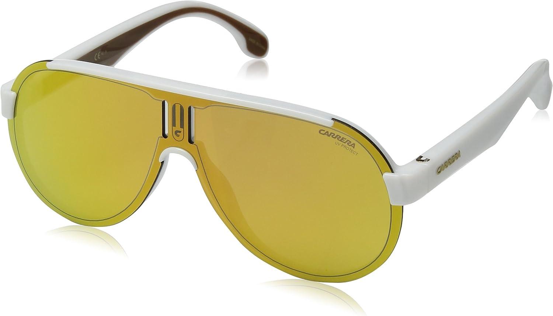 Carrera 1008 s Aviator Sunglasses, Matte Black White, 99 mm