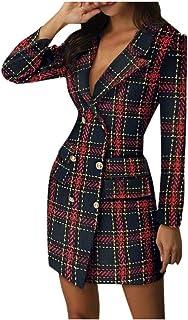 Vestiti in Maglia Donna Eleganti Vintage,Bluse da Donna,YanHoo Abito da Donna Felpa da Donna con Scollo Tondo Caldo Manica...
