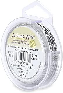 Beadalon 20-Gauge Twist Round Artistic Wire, 8-Yard, Stainless Steel