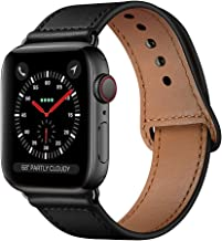 KYISGOS Compatible with iWatch Band 44mm 42mm, Genuine Leather Replacement Band Strap..