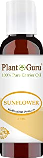 Sunflower Oil 2 oz Cold Pressed Carrier 100% Pure Natural For Skin, Body, Face, and Hair Growth Moisturizer. Great For Creams, Lotions, Lip balm and Soap Making