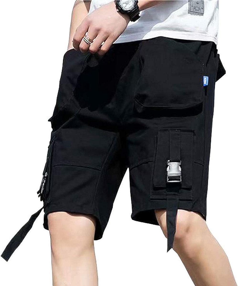 Astellarie Mens Casual Cargo Shorts Lightweight Multi-Pockets Streetwear Gym Running Jogger Shorts