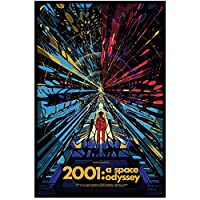 Suuyar クラシックムービー2001スペースオデッセイポスターとプリントウォールアートプリントキャンバスにリビングルームホームベッドルーム装飾-24X32インチX1フレームレス