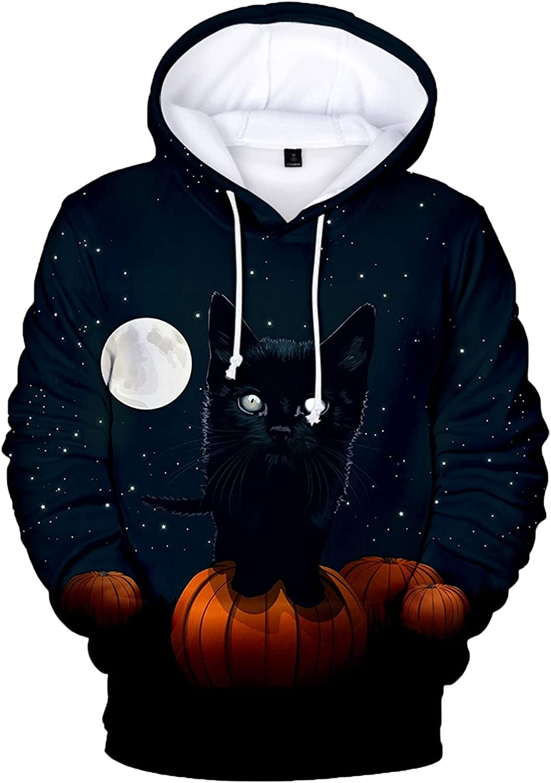 Bravetoshop Men's 3D Printed Pullover Hoodies Novelty Graphic Street Fashion Tracksuit Sweatshirt for Halloween