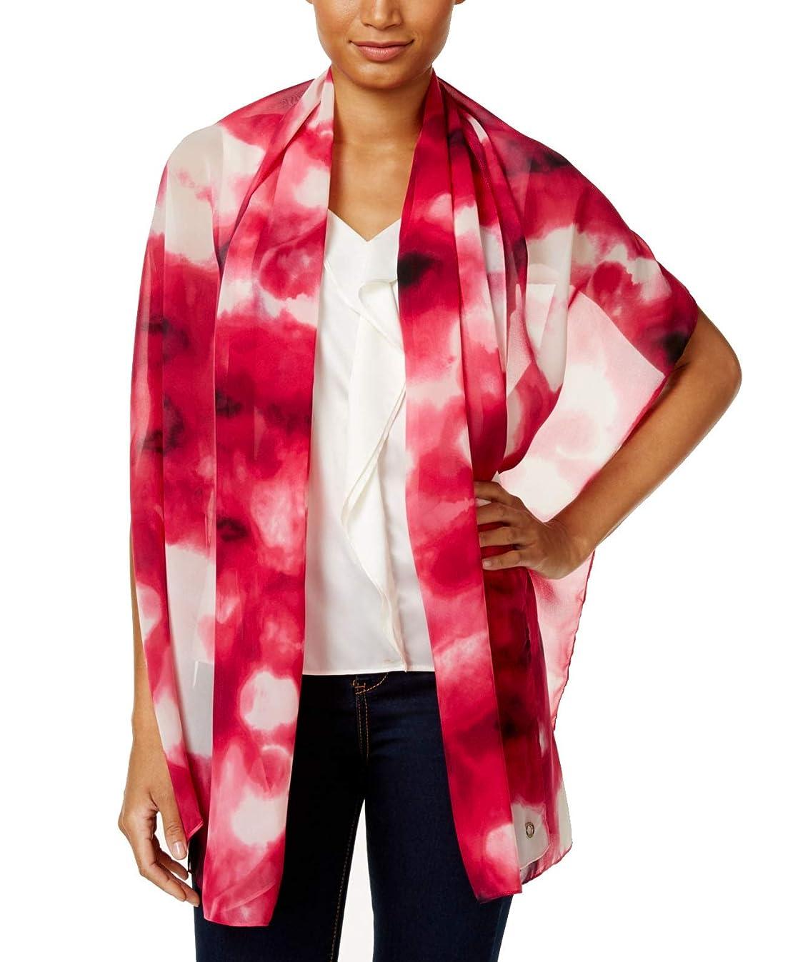 Calvin Klein Cloud Oblong Wrap Scarf (Winter Rose)