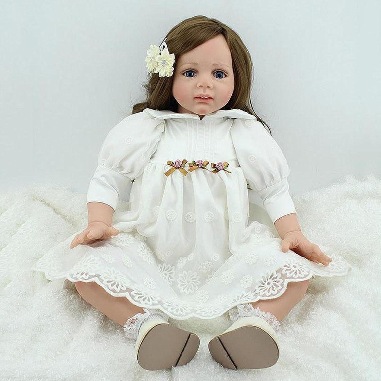 SHTWAD Lifelike Simulation Reborn Baby Doll Cotton Body Cute Princess Skirt Christmas Birthday Gift 60cm