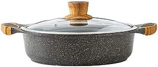 Yyqthg Cacerola, Sopa de Olla Shabu-shabu Hot Pot Pot Profesional Cacerola Antiadherente de Sopa de Olla sartén aleación de Aluminio de Calibre Binaural (Size : 24CM)