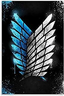 espesyal Attaque D'anime Sur Titan Toile Artworks Enquête Corps Ailes De Liberty Attaque Sur Titan Posters Peintures Exqui...
