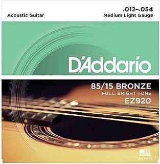 D'Addario EZ920 Cordes en bronze pour guitare acoustique 85/15 Moyen/Léger 12-54