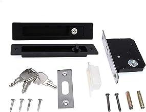 """Deurslot 7.1""""Schuifdeurslot Onzichtbare verzonken handgreepvergrendeling met 3 sleutels Interieur Houten Deur Moordvergren..."""
