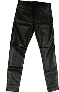 J Brand Women's Mid Rise Legging Black Tar Coated Super Skinny Jean