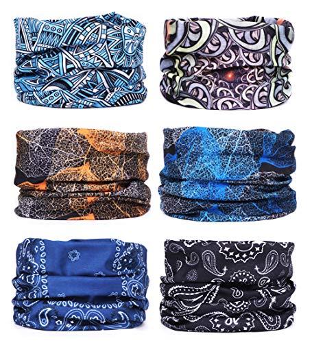 P.A.C adultos multifunción pañuelo bufanda PAC original UV protector azul