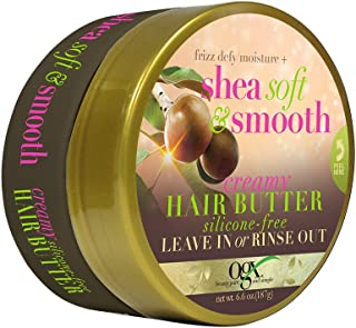 OGX Frizz-Defy/Moisture + Shea Soft & Smooth Creamy Hair Butter, 6.6 Ounce