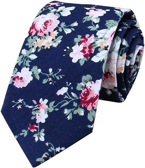 JUNGEN Corbata de Hombre Corbata a Cuadros Corbata de Estrecha Corbata Informal de algod/ón para Oficina Citas