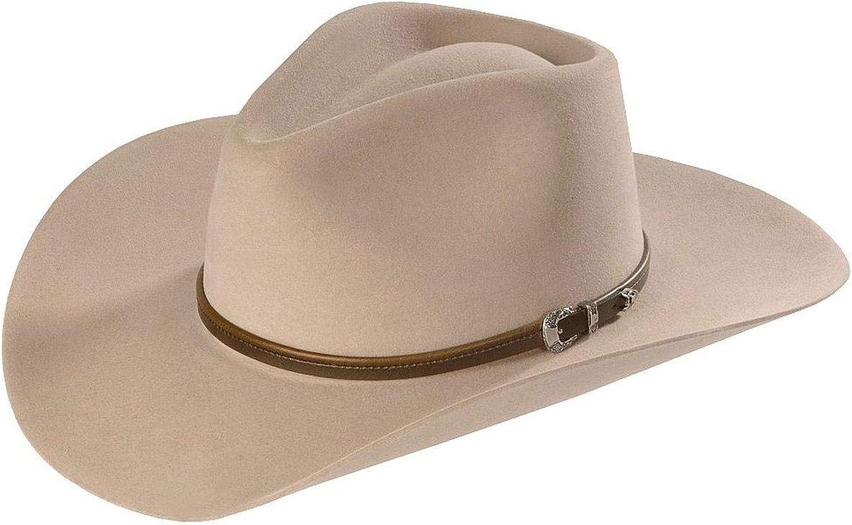 Stetson Men's 4X Buffalo Felt Seneca Western Hat - Sbsnca-413498 Silver Sand