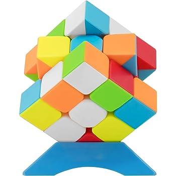 XMD 魔方 マジックキューブ 3x3 進化版 競技用 立体パズル 公式·WCA国際大会規格 FAVNIC 脳トレ おもちゃ (ステッカーレス 進化版)