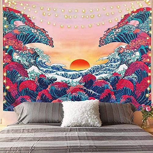 Mazheny Arazzo da parete con motivo di fasi lunari, decorazione per soggiorno, camera da letto, 150...