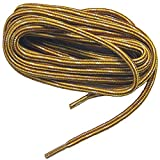 2 pair pack round Gold Yellow Tan proTOUGH Heavy Duty 6mm thick 3/16 Kevlar Reinforced boot laces shoelaces