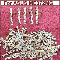 100%オリジナルスイッチオンオフパワーボリュームボタンフレックスケーブルAsus k00E ME372MG導電性フレックスステッカー交換部品付き