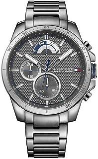 Tommy Hilfiger Decker Men's Grey Dial Stainless Steel Watch - 1791347