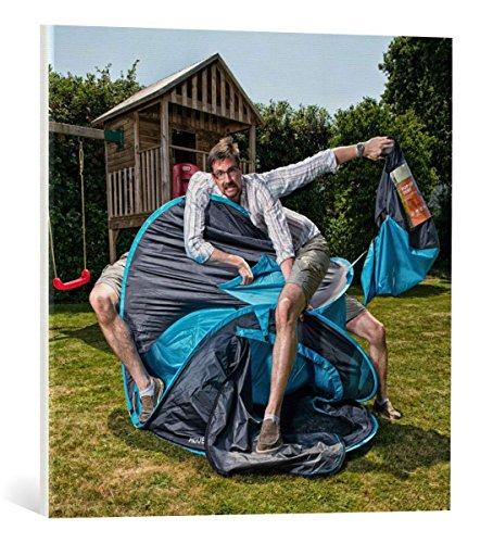 Kunst für Alle Cuadro en Lienzo: Simon Newbury The Trials and Tribulations of Fatherhood - Impresión artística, Lienzo en Bastidor, 60x60 cm